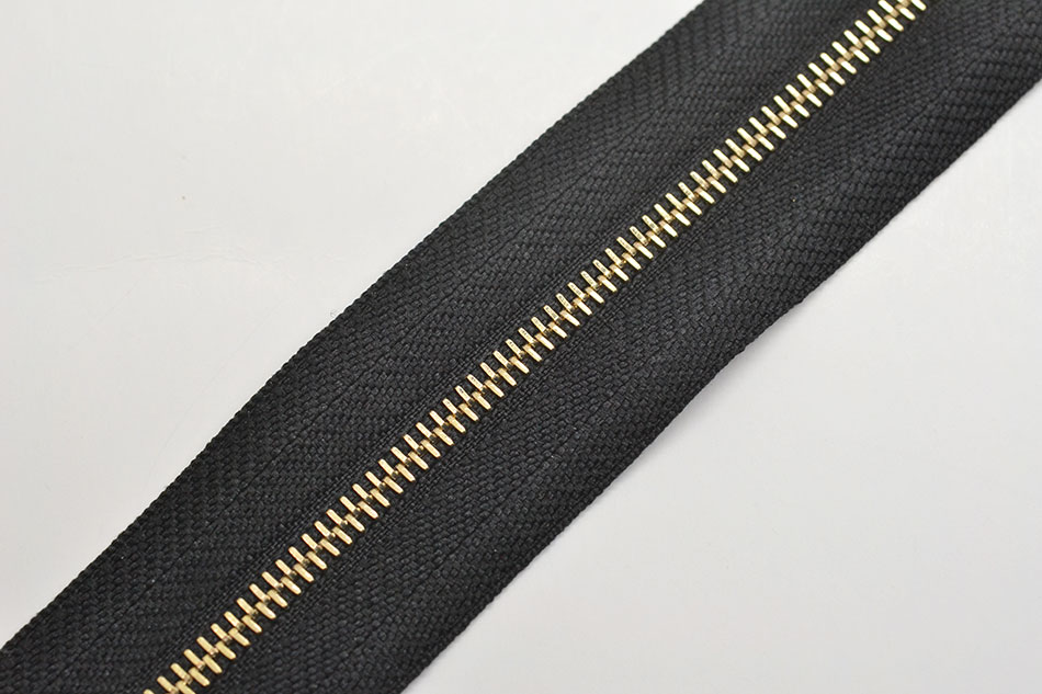Metal zipper #2 one way swiss gold